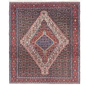 Link to 122cm x 147cm Senneh Persian Rug