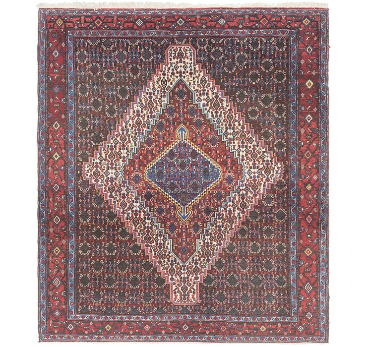 4' x 4' 10 Senneh Persian Rug