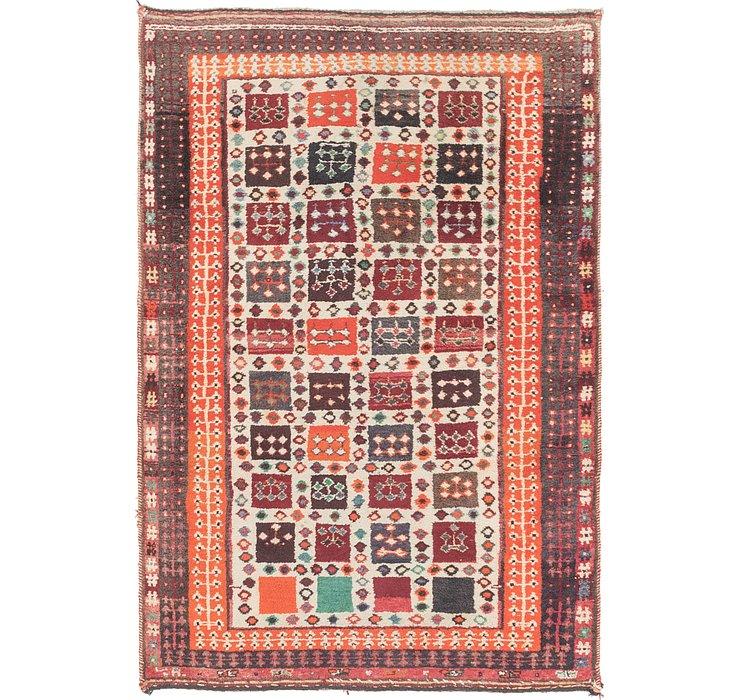 4' x 6' Shiraz-Gabbeh Persian Rug