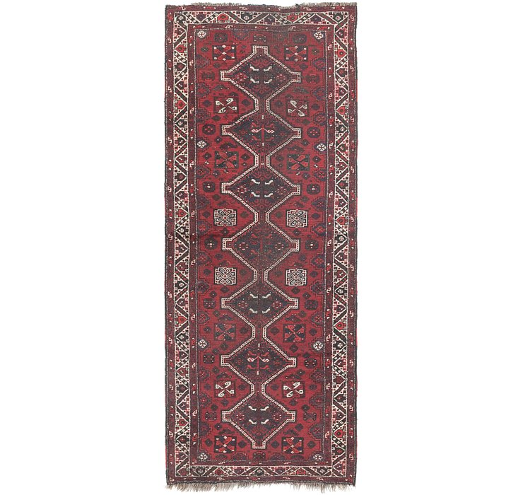 3' 9 x 10' Shiraz Persian Runner Rug