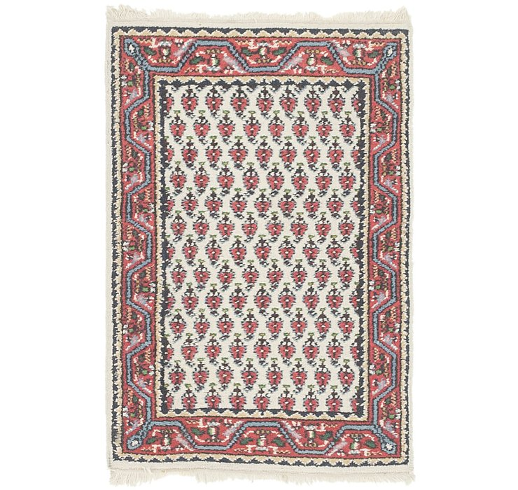 HandKnotted 2' x 3' 2 Mir Rug
