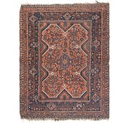 Link to 4' x 5' 2 Ghashghaei Persian Square Rug