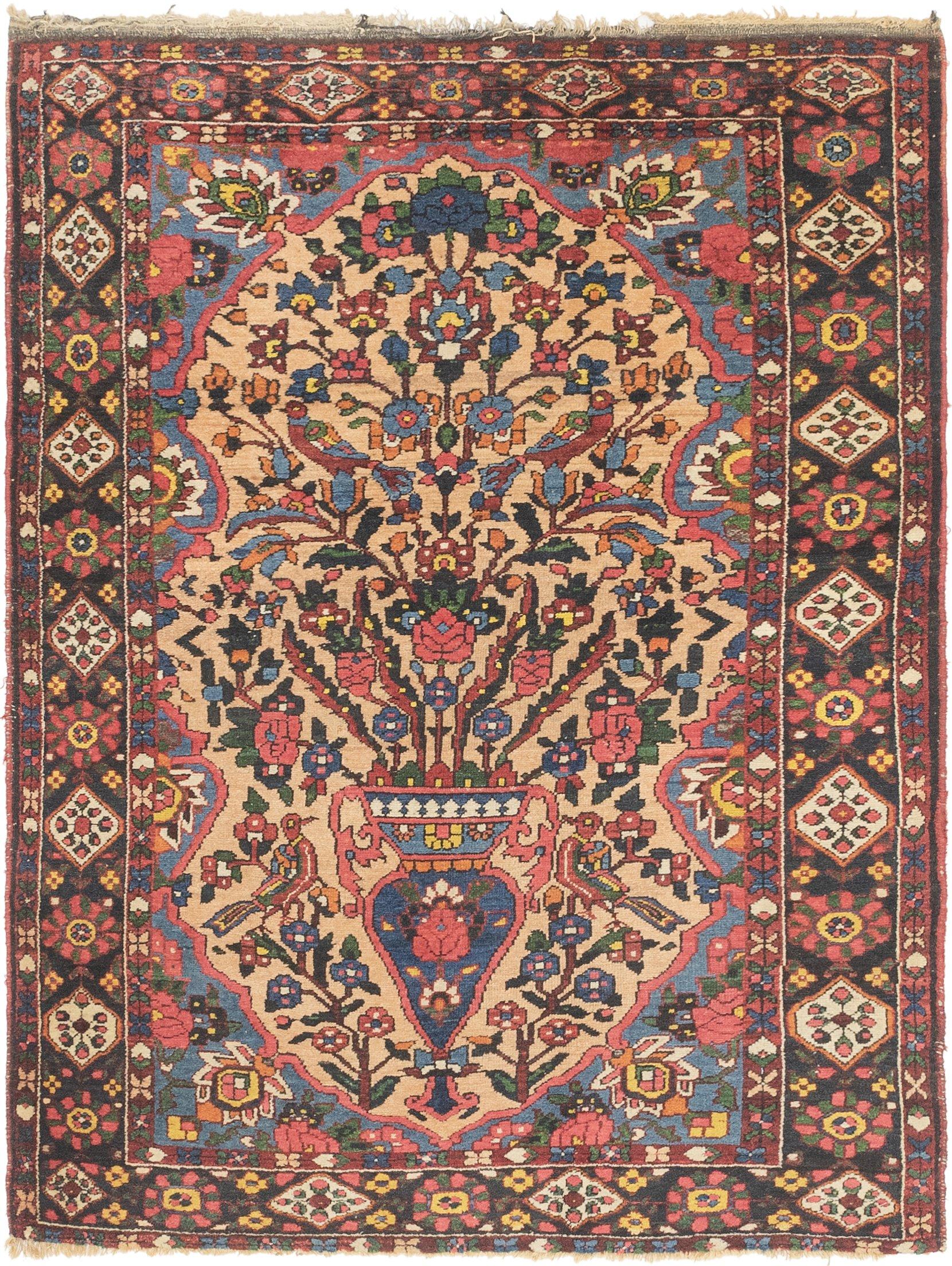 Tan Handknotted 4 9 X 6 Bakhtiar Persian Rug Rugs