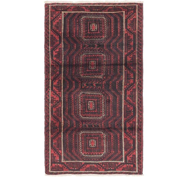 4' 2 x 7' 8 Balouch Persian Rug