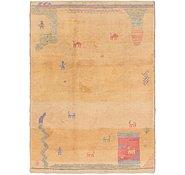 Link to 145cm x 205cm Shiraz-Gabbeh Persian Rug