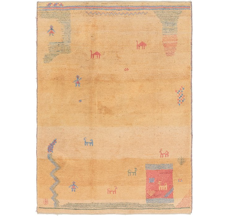 4' 9 x 6' 9 Shiraz-Gabbeh Persian Rug