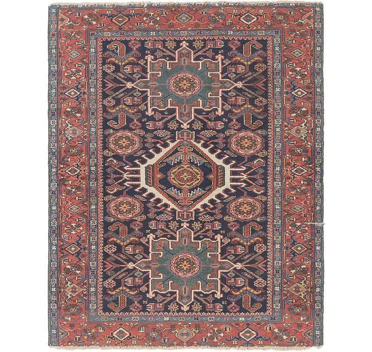 4' 9 x 6' Gharajeh Persian Rug