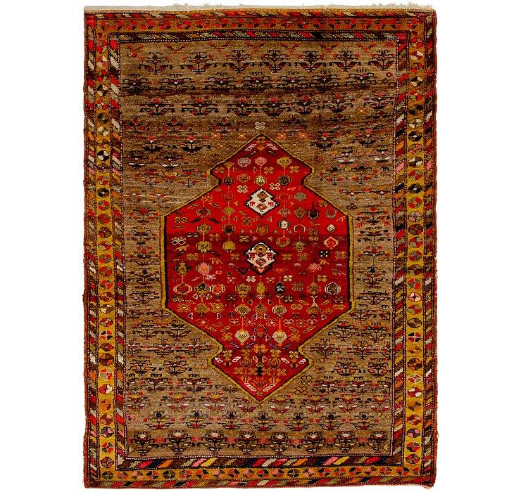 4' 8 x 6' 3 Hamedan Persian Rug