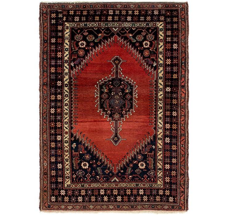 4' 6 x 6' 6 Mazlaghan Persian Rug