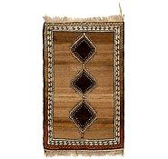 Link to 3' 6 x 6' 5 Shiraz-Gabbeh Persian Rug