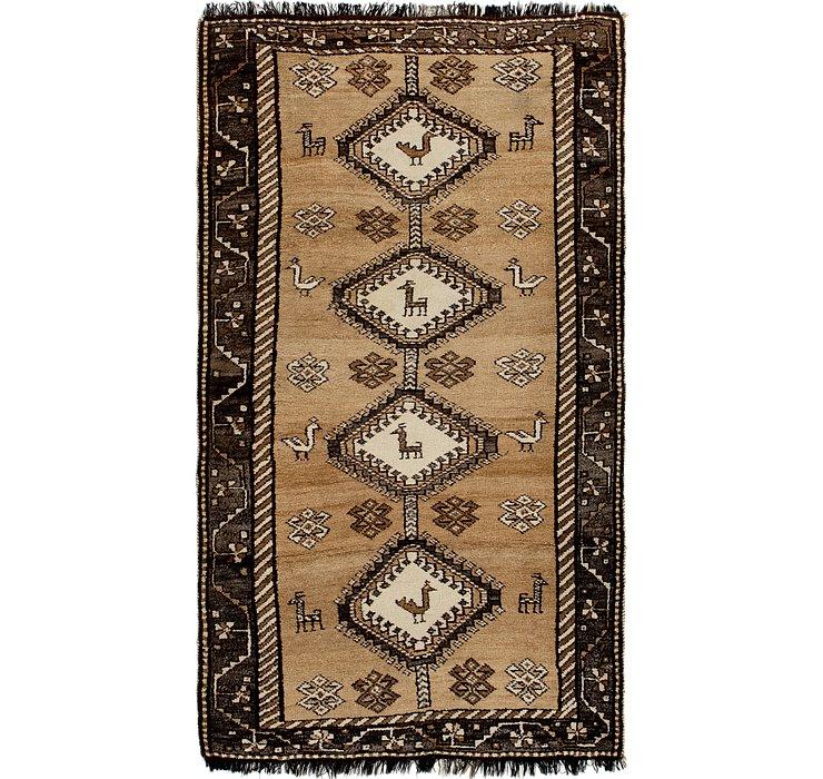 3' 8 x 6' 6 Shiraz-Gabbeh Persian Rug