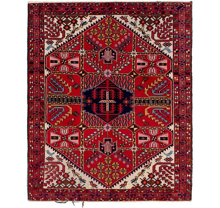 5' 3 x 6' 7 Hamedan Persian Rug