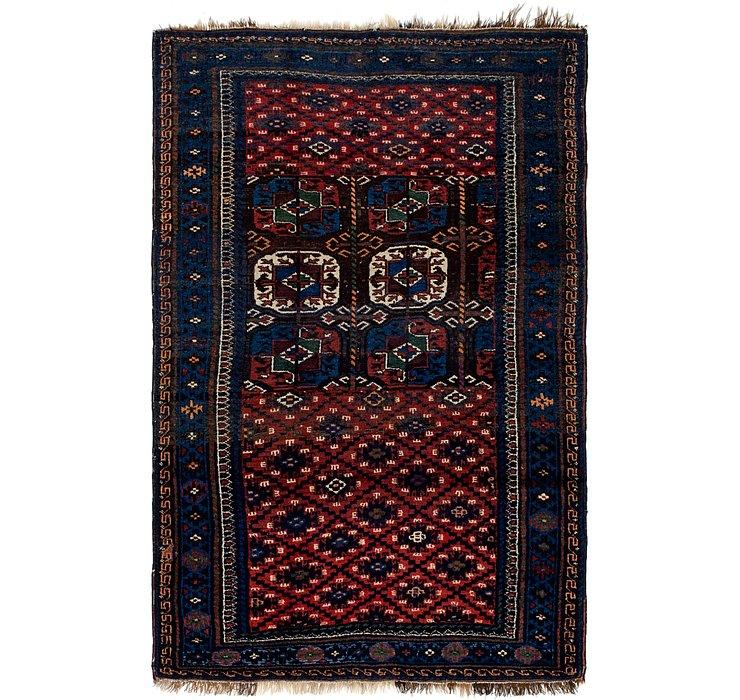 4' x 6' 2 Shiraz Persian Rug