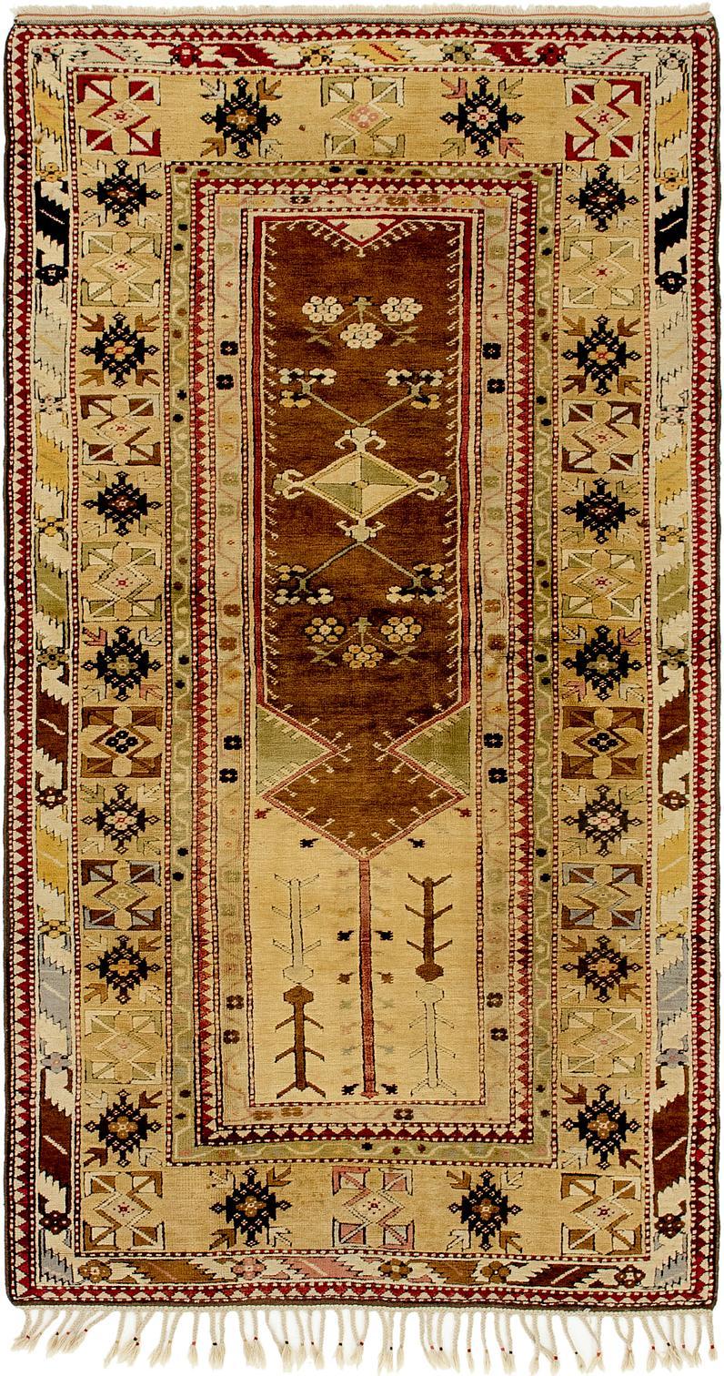 Light Brown 4 3 X 8 2 Kars Runner Rug Oriental Rugs