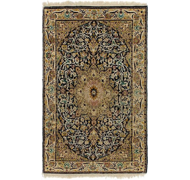 HandKnotted 3' x 5' Kashmir Oriental Rug