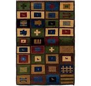 Link to 4' 3 x 6' Shiraz-Gabbeh Persian Rug