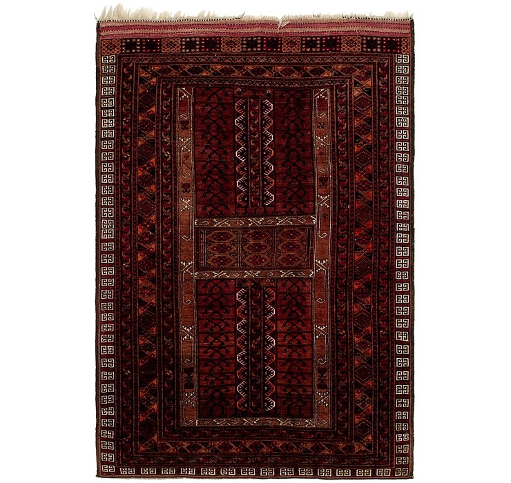 4' 6 x 6' 8 Afghan Ersari Rug