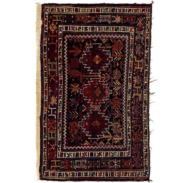 2' 5 x 4' Sirjan Persian Runner Rug