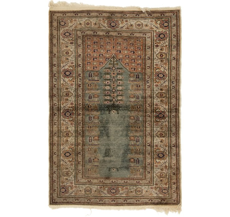 2' 10 x 4' 4 Kashmir Oriental Rug