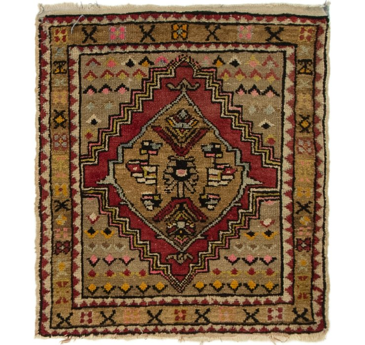 2' 2 x 2' 4 Anatolian Square Rug
