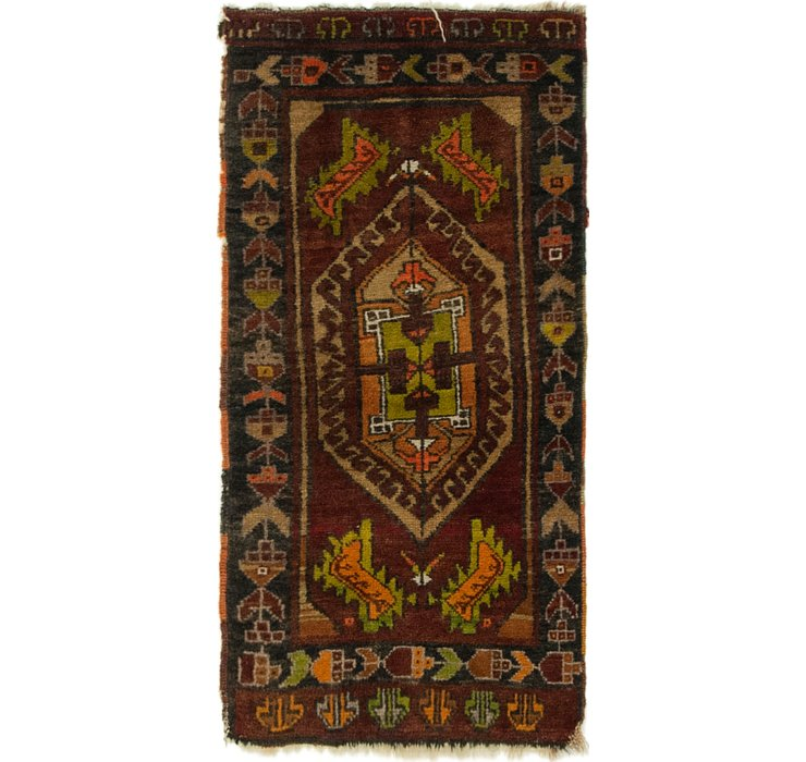 1' 7 x 3' Anatolian Rug