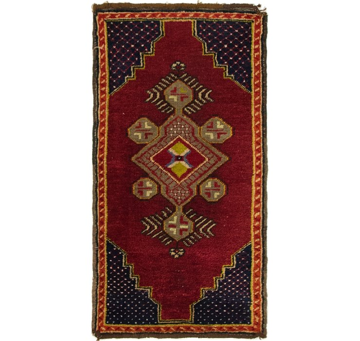 1' 8 x 3' 2 Anatolian Oriental Rug