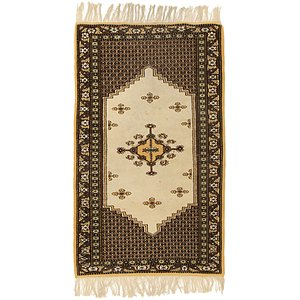 HandKnotted 3' x 4' 10 Moroccan Oriental Rug