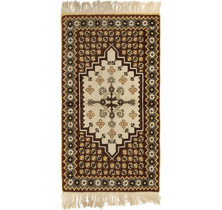 HandKnotted 2' 8 x 4' 10 Moroccan Rug