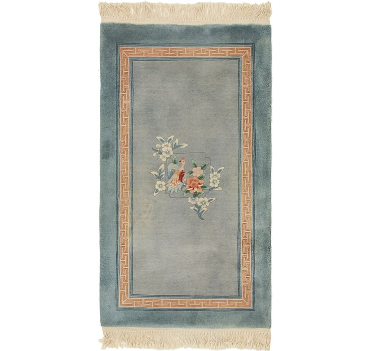 HandKnotted 2' 7 x 4' 9 Antique Finish Rug