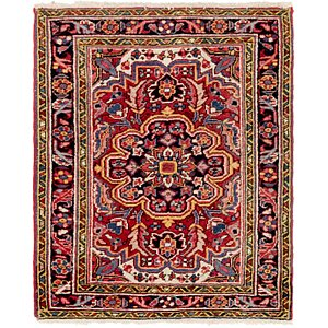 HandKnotted 2' 8 x 3' 3 Heriz Persian Square Rug