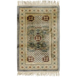2' 4 x 4' Antique Finish Rug