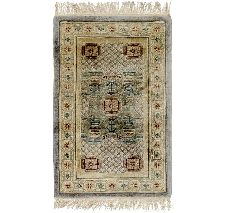 70cm x 122cm Antique Finish Rug