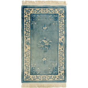 2' 7 x 4' 8 Antique Finish Rug