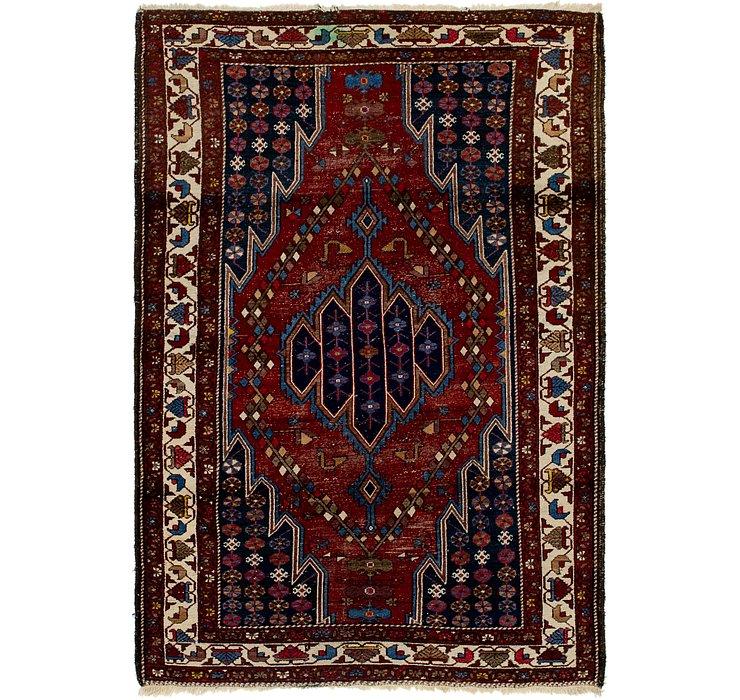 4' 2 x 6' 4 Mazlaghan Persian Rug