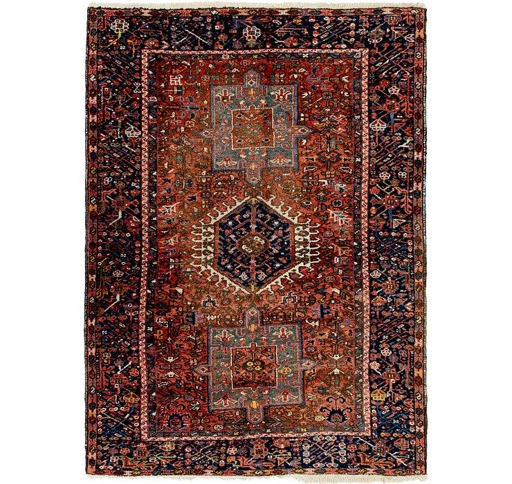 4' 10 x 6' 7 Gharajeh Persian Rug