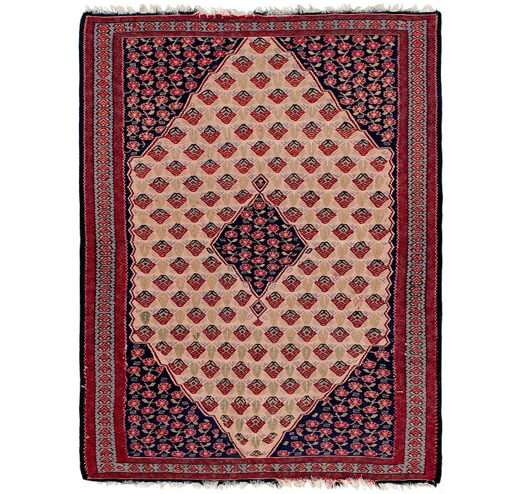3' 9 x 5' Kilim Fars Persian Rug