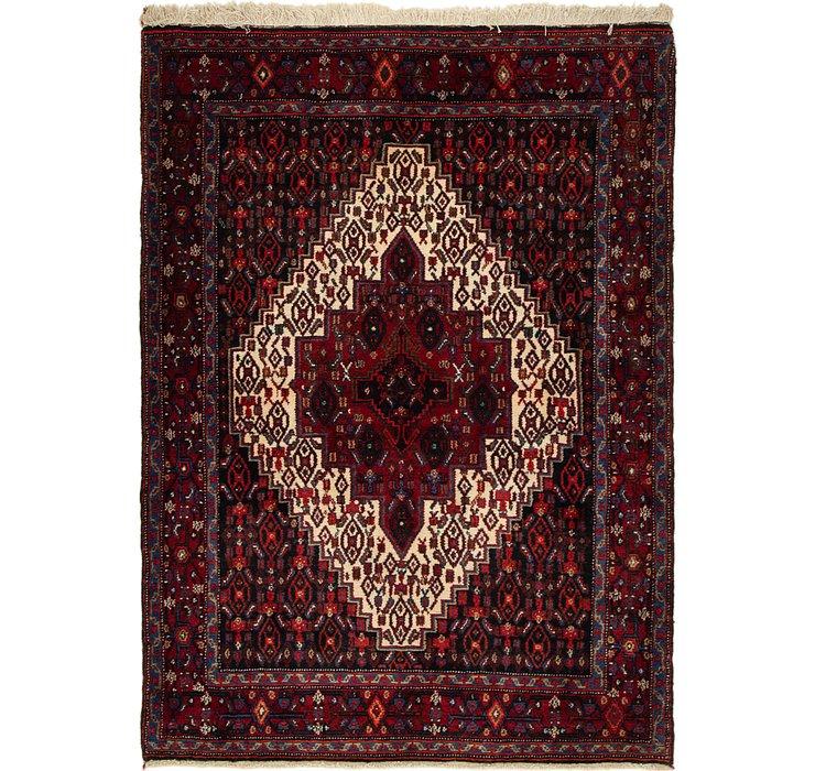 4' x 5' 5 Senneh Persian Rug