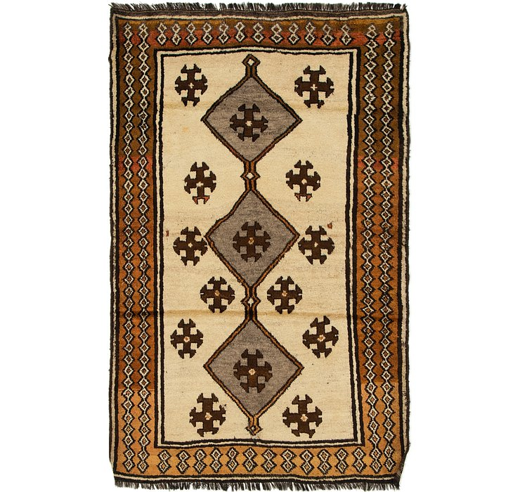 3' 10 x 6' 2 Shiraz Persian Rug