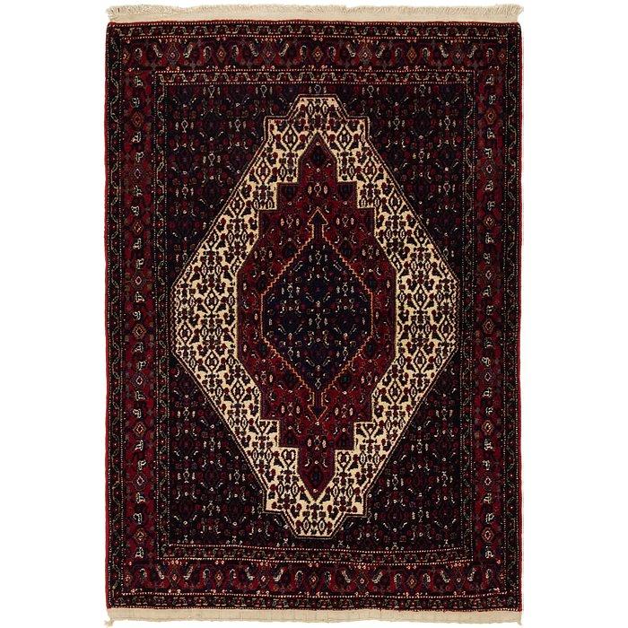 4' x 5' 7 Senneh Persian Rug