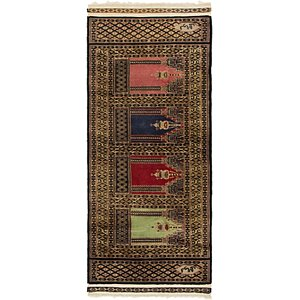 HandKnotted 2' x 4' 8 Lahour Oriental Rug