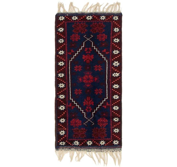 1' 8 x 3' 4 Anatolian Oriental Rug