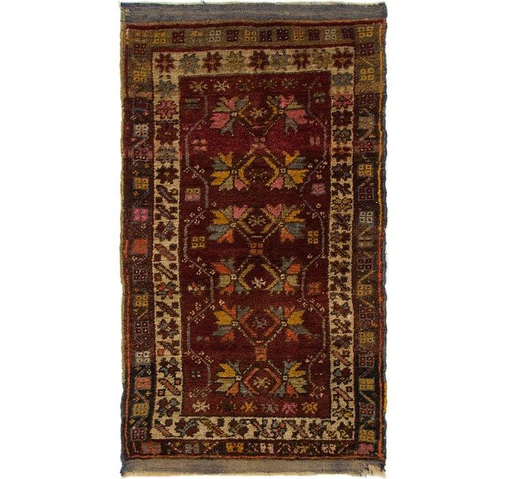 1' 9 x 3' 2 Anatolian Oriental Rug