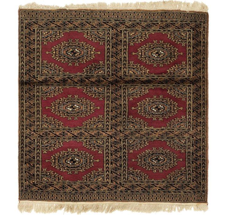 4' x 4' 2 Bukhara Square Rug