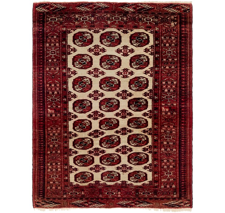 3' 4 x 4' 6 Bokhara Oriental Rug