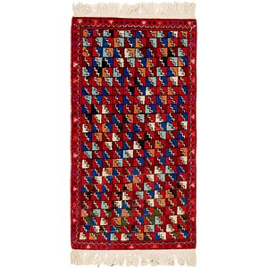 HandKnotted 2' 9 x 3' 4 Romani Rug
