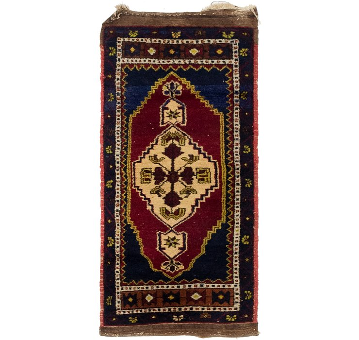 1' 9 x 3' 10 Anatolian Oriental Rug