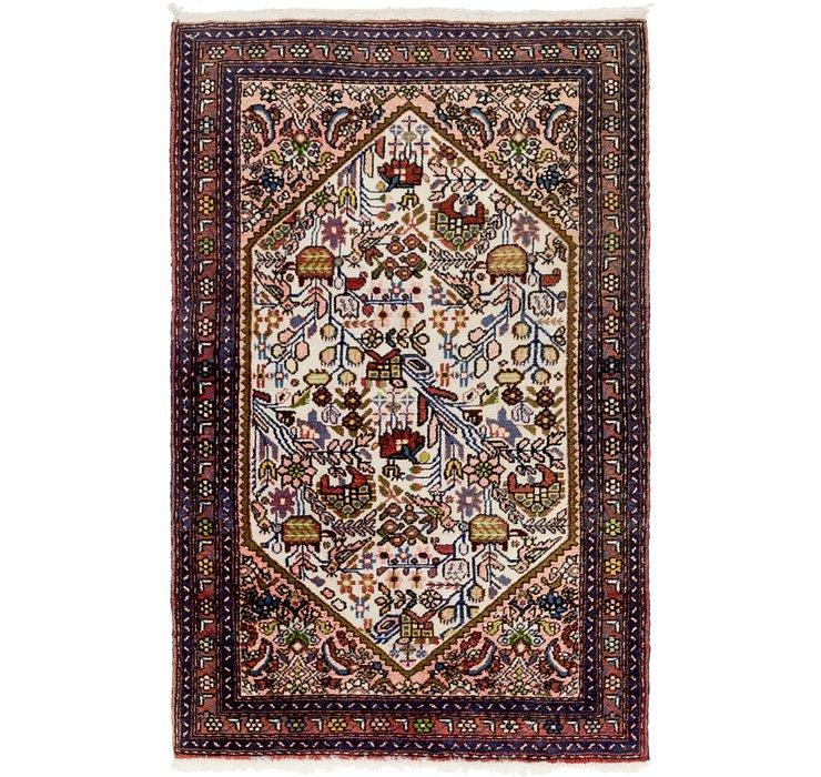 2' 7 x 4' Roodbar Persian Rug