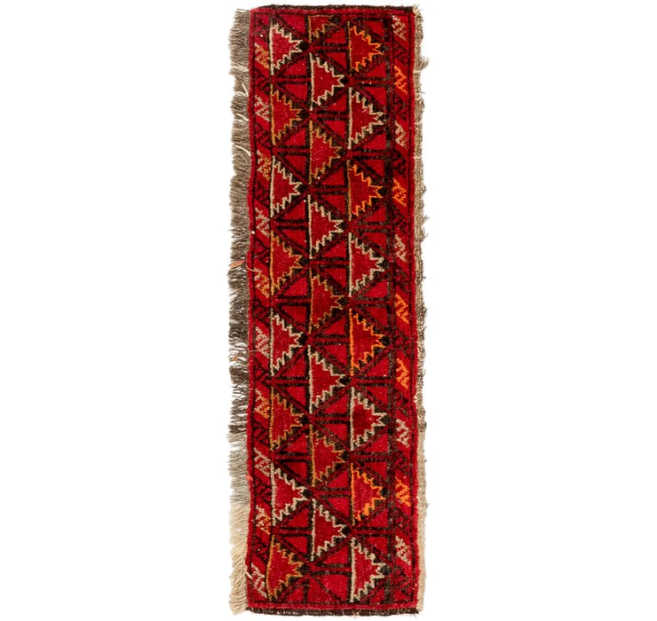 HandKnotted 1' x 3' 10 Shiraz Persian Rug