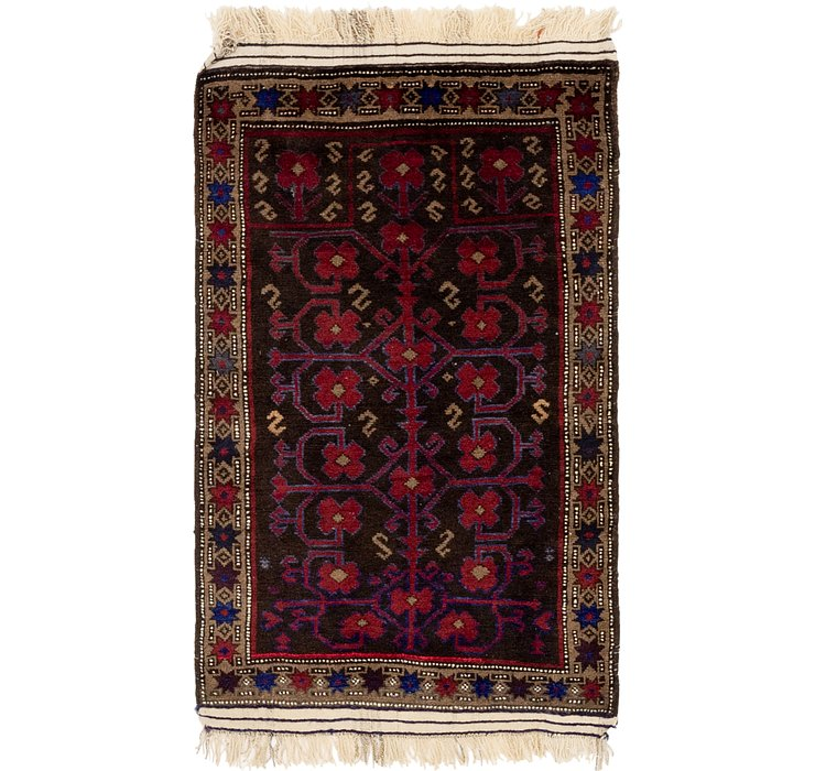 2' 6 x 4' 8 Balouch Persian Rug