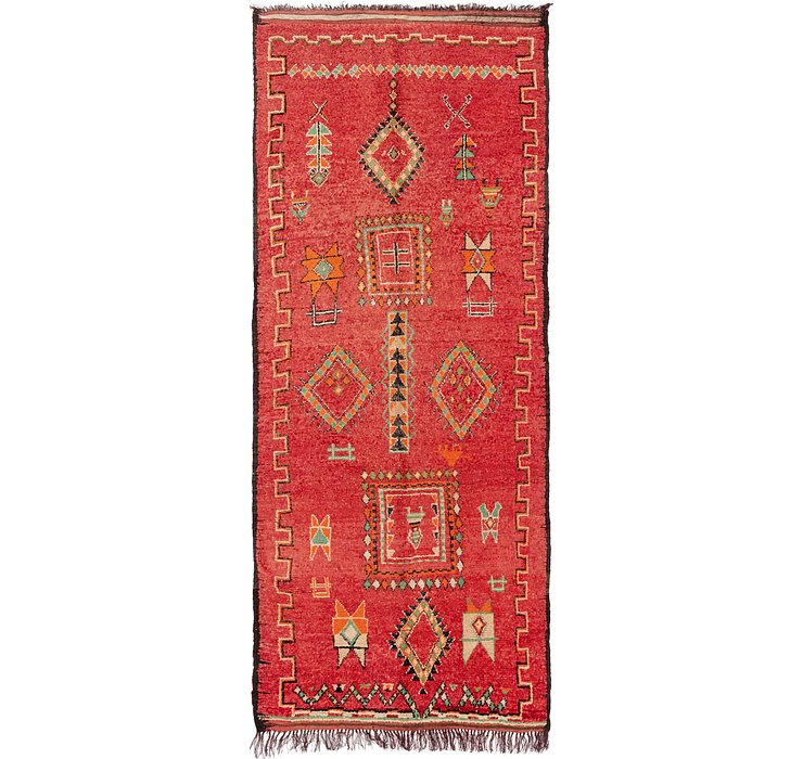 5' 2 x 11' 10 Moroccan Runner Rug